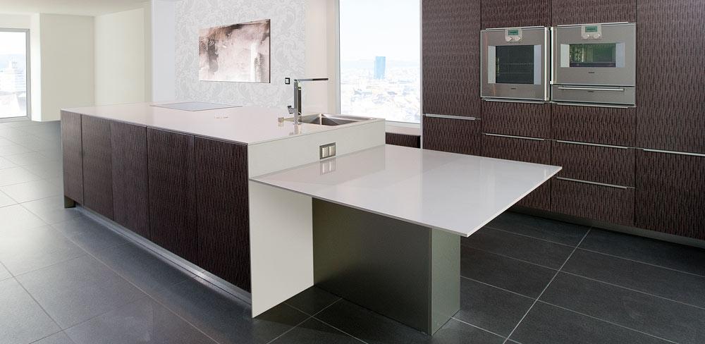 Wohnküche mit Designfronten