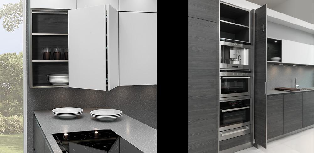 Details Designküche mit Struktur-Fronten