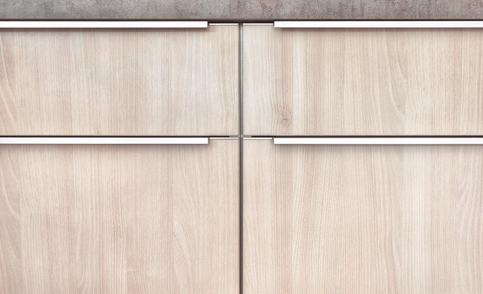 Holzdekor Küchenfront von müller | Küchen Werksverkauf Kassel