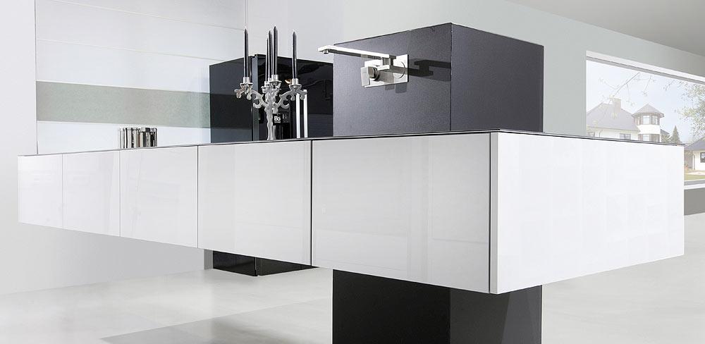schwebende Designküche
