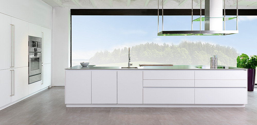 weiße Designküche