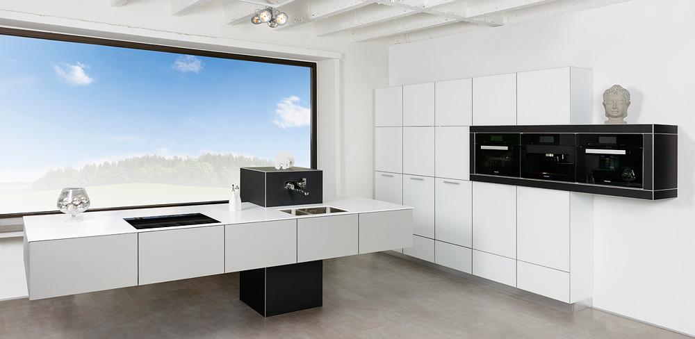 freischwebende Designküche
