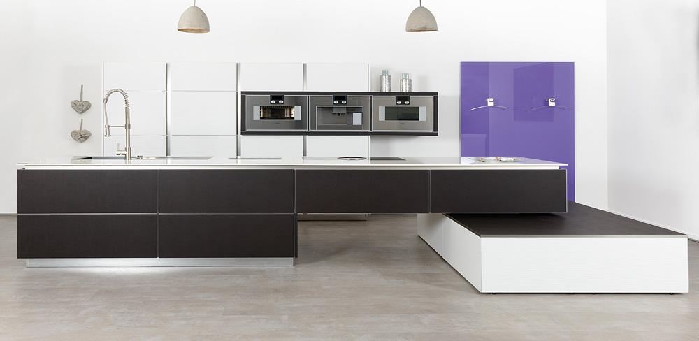Küche mit Lederfronten