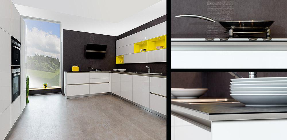Detail weiße Küche